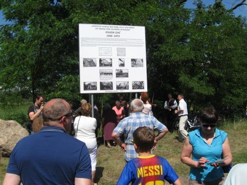 Odsłonięcie kamienia upamiętniającego istnienie Osady Gać - 19 czerwca