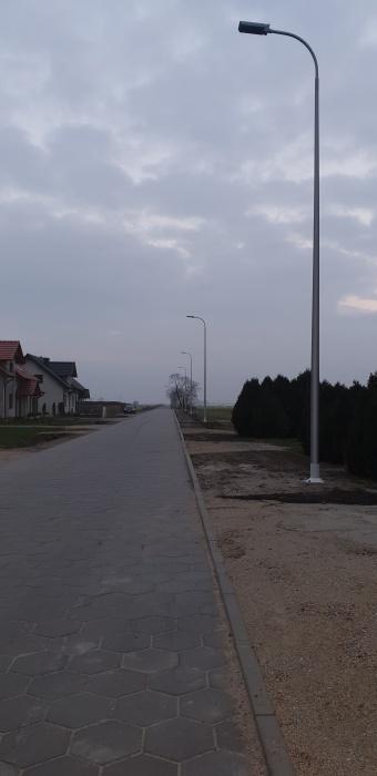 Budowa oświetlenia ulicznego w Chojnie w kierunku Niemarzyna