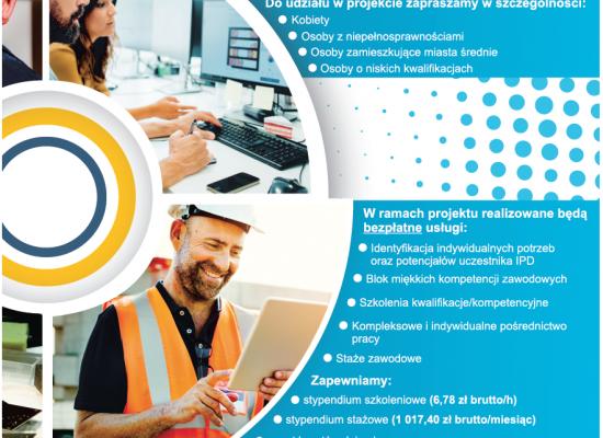 """Projekt """"Aktywizacja zawodowa: kwalifikacje i doświadczenie"""""""