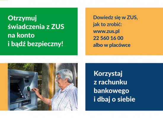 Bezpiecznie, zdrowo, bezgotówkowo – otrzymuj świadczenie na konto bankowe