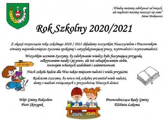 Rok szkolny 2020/2021 - życzenia