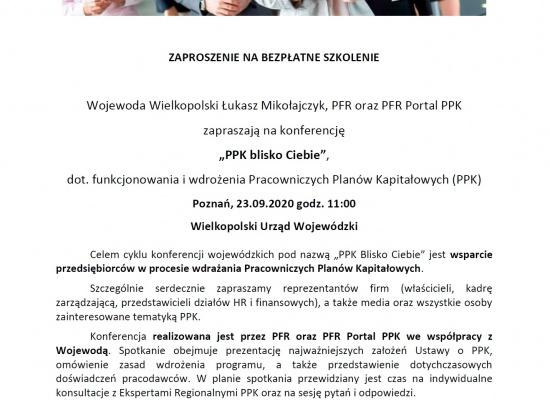 """Bezpłatna konferencja i szkolenie """"PPK blisko Ciebie"""""""